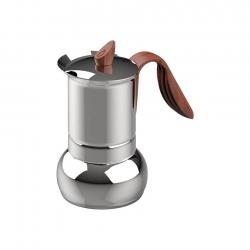 G.A.T Opera Wood Espressokanna Stål 4 kopp