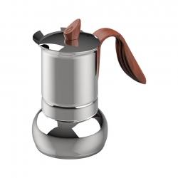 G.A.T Opera Wood Espressokanna Stål 6 kopp