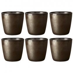Aida RAW Mugg 0,30L 6 st Metallic Brown