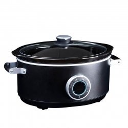 Gastronoma Slow Cooker 6,5L Mat Sort