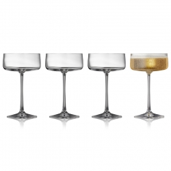 Lyngby Zero Krystal Champagneskål 26cl 4 stk