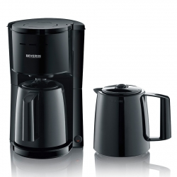 Severin Kaffemaskine Inkl. 2 Termokander Sort