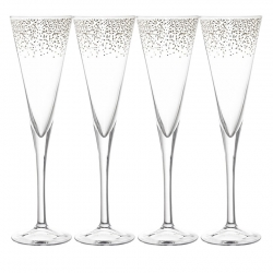 Bloomingville Champagne-Glas 4 st