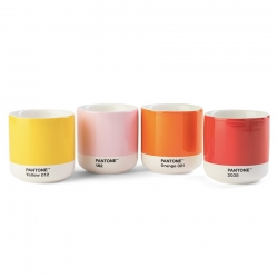 Pantone Cortado Termomugg 0,19L Lys Sett 4 st