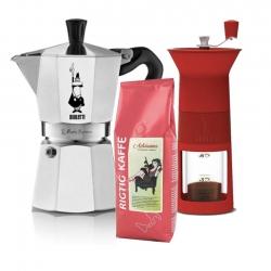 Bialetti Kaffekvarn Inkl. Moka Express 6 Koppar & Kaffe