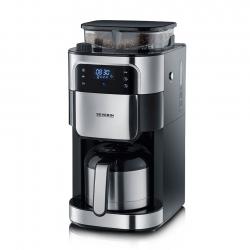 Severin Kaffemaskin m. kvarn Svart/Stål