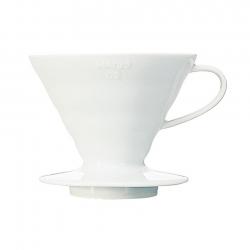 Hario V60-02 Bloom Keramik Dripper Vit Inkl. 40 Pappersfilter