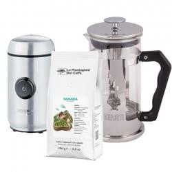 Bialetti Preziosa Kaffepress 1 L Inkl.Kaffekvarn & Kaffe