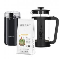 Bialetti Smart Kaffepress 1 L Inkl. Kaffekvarn & Kaffe