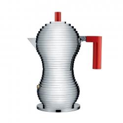 Alessi Pulcina Espressokanna Röd 3 Koppar