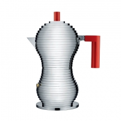 Alessi Pulcina Espressokanna Röd 3 Kopp