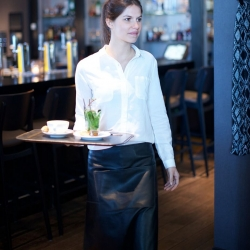 DutchDeluxes Professional Läder Midjeförkläde Långt - Svart